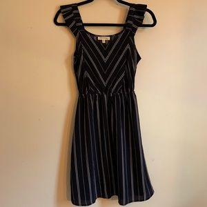 Striped Navy Blue Dress